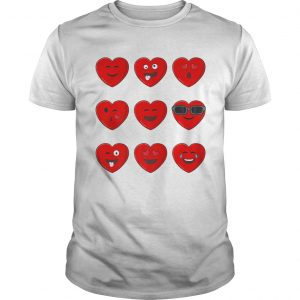 Heart Emojis Valentines Day Funny Emoticons Boys Girls Kids  Unisex