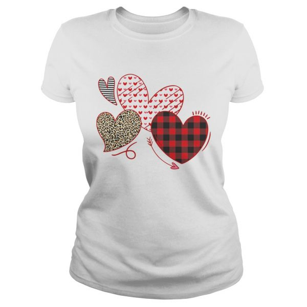 Hearts And Arrows Leopard Plaid Valentines Day  Classic Ladies