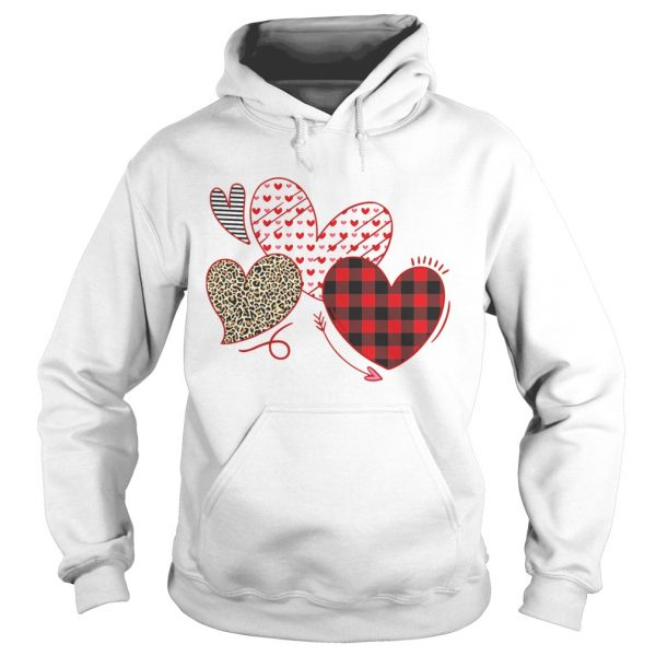 Hearts And Arrows Leopard Plaid Valentines Day  Hoodie