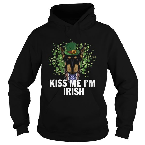 Kiss Me Im Irish Dobermann Lover St Patricks Day  Hoodie