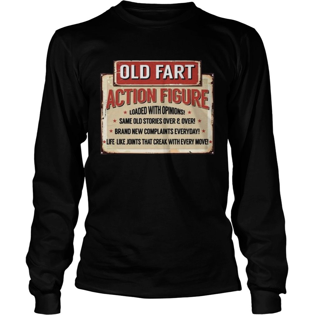 Old Fart Action Figure For Old Man Club LongSleeve