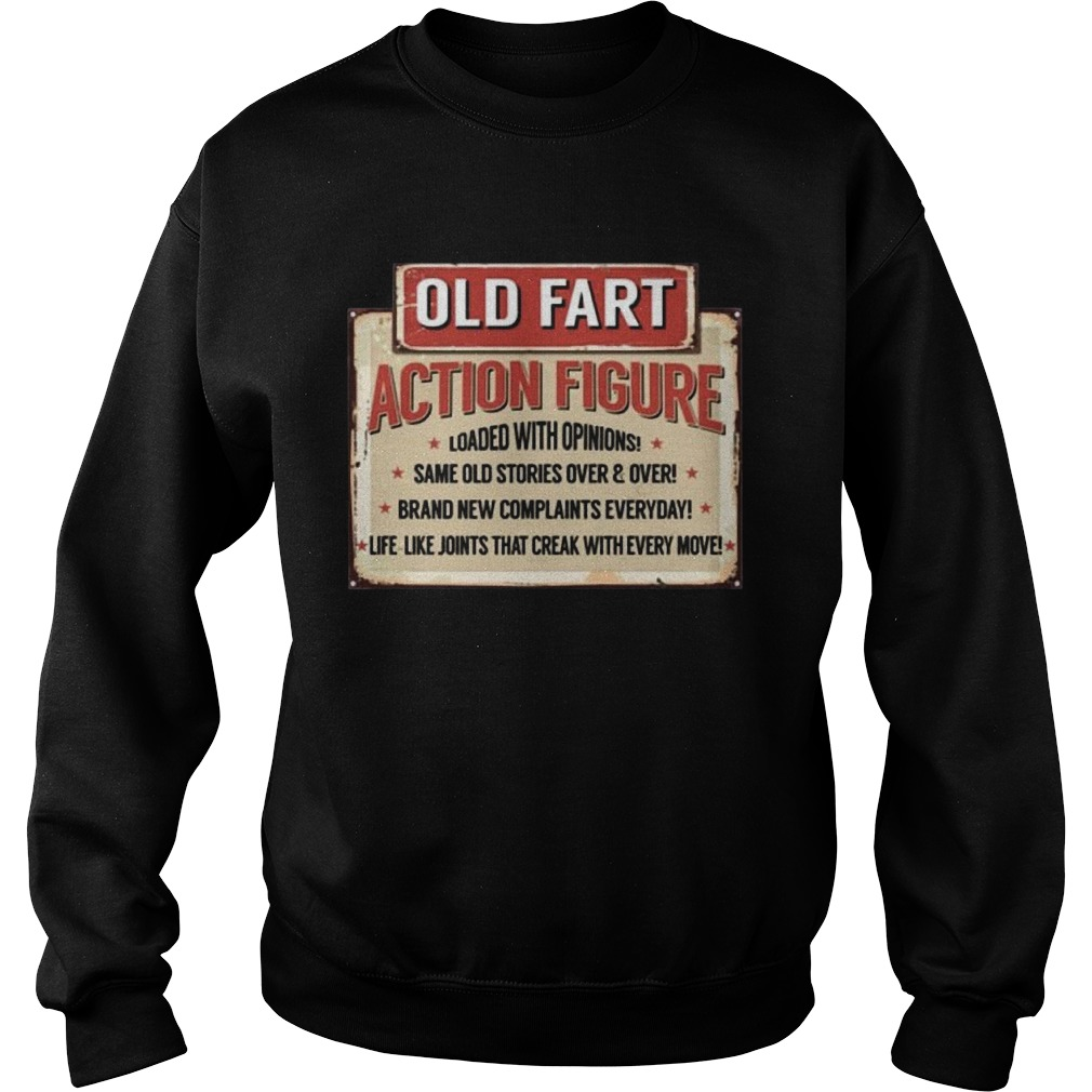 Old Fart Action Figure For Old Man Club Sweatshirt