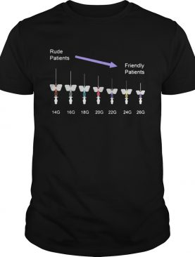 Phlebotomist Rude Patients To Friendly Patients shirt