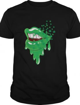 Sexy Lips Cannabis Marijuana Weed Pot Leaf Lover shirt