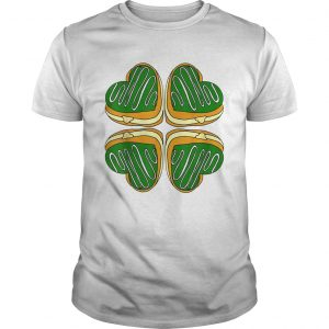 Awesome Four Leaf Clover Donut St Patricks Day Funny Irish  Unisex