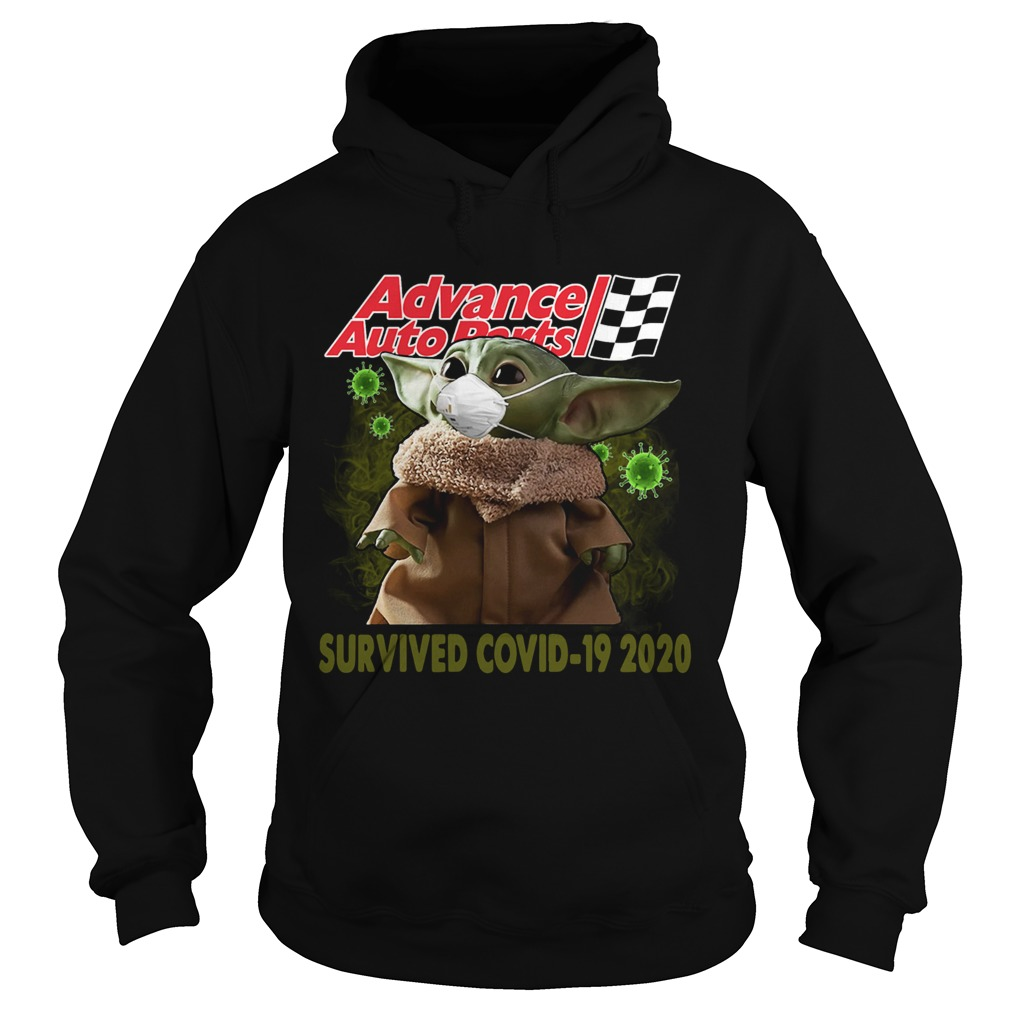 Baby Yoda Advance Auto Parts Survived Covid 19 2020 Hoodie