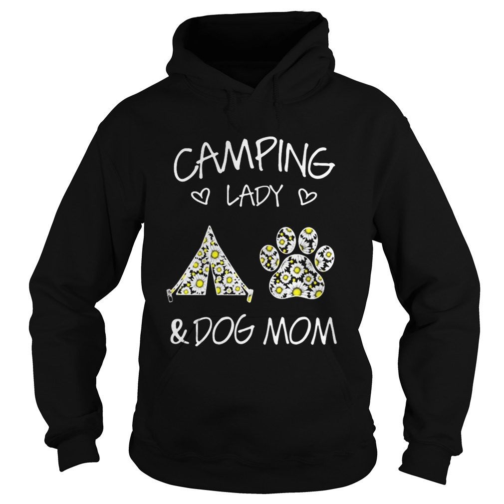 Camping Lady And Dog Mom Hoodie