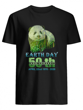 Earth Day 50th Anniversary Panda Silhouette Panda shirt