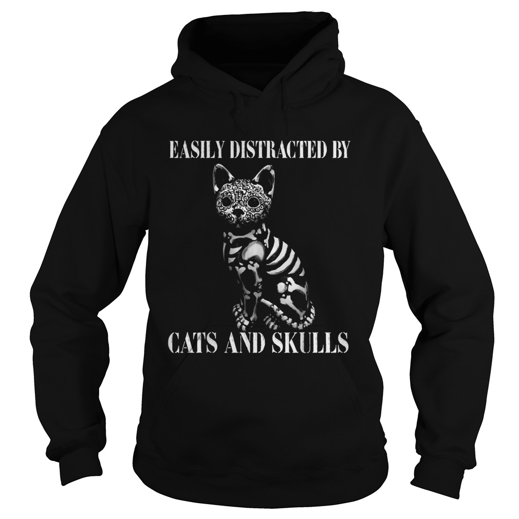 Easily Distracted By Cats And Skulls Costume Hoodie