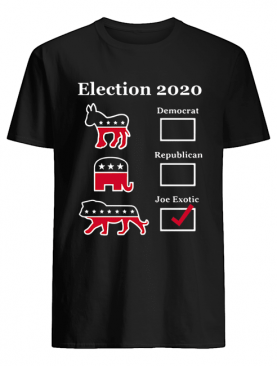 Election 2020 Democrat Republican Joe Exotic shirt