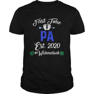 First Time Pa Est 2020 Shirt Fathers Day  Unisex