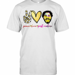 Peace Love Post Malone T-Shirt Classic Men's T-shirt