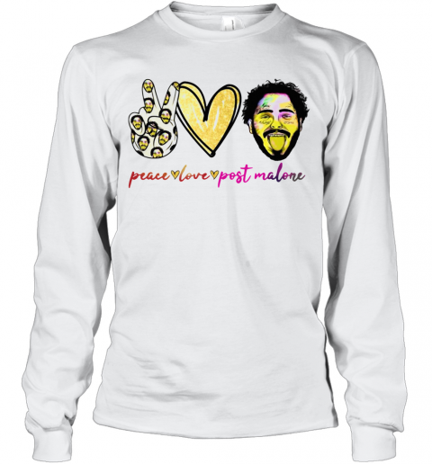 Peace Love Post Malone T-Shirt Long Sleeved T-shirt