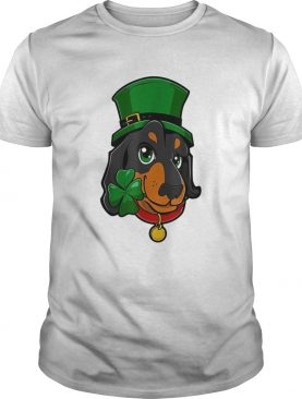 St Patricks Day Dachshund Leprechaun Dog shirt