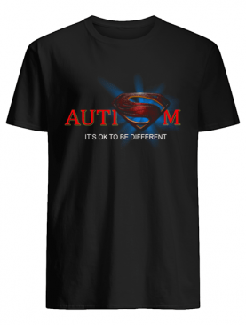 Superman Logo Autism It's Ok To Be Different shirt