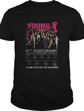 The Young And The Restless 47th Anniversary 19732020 Signatures shirt