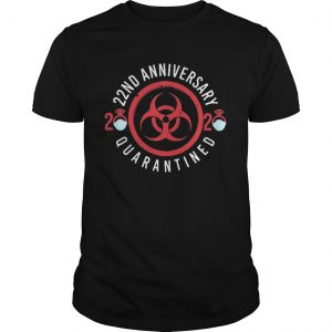 22nd anniversary 2020 mask quarantined  Unisex