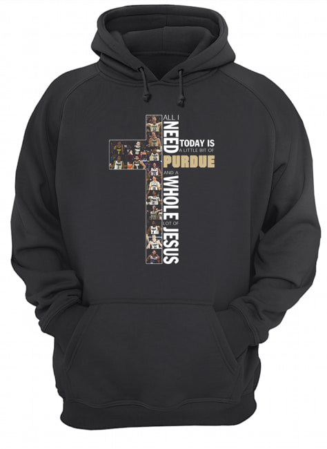 All Need Today Is A Little Bit Of Purdue And A Whole Lot Of Jesus  Unisex Hoodie