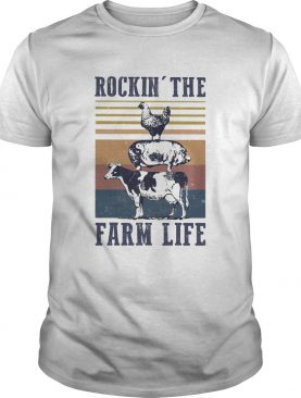Animal Rockin the farm life vintage shirt