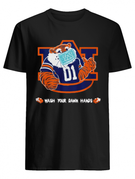 Auburn Tigers Face Mask Wash Your Damn Hands shirt