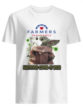 Baby Yoda Mask Farmers Insurance Survived Covid 19 2020 shirt