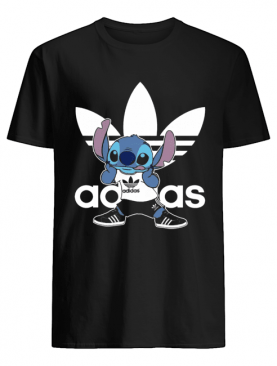 Cute Sporty Stitch Disney X Adidas Mashup shirt