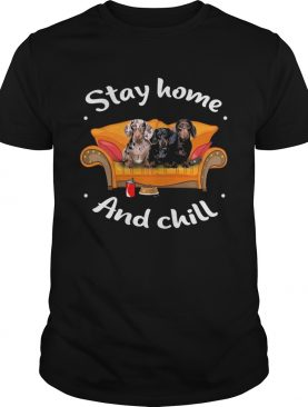 Dachshund stay home and chill shirt