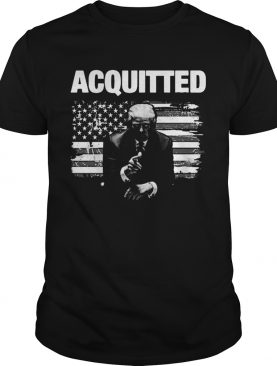 Donald Trump Acquitted America Flag shirt