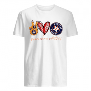 Good Peace Love Astros Houston Astros  Classic Men's T-shirt