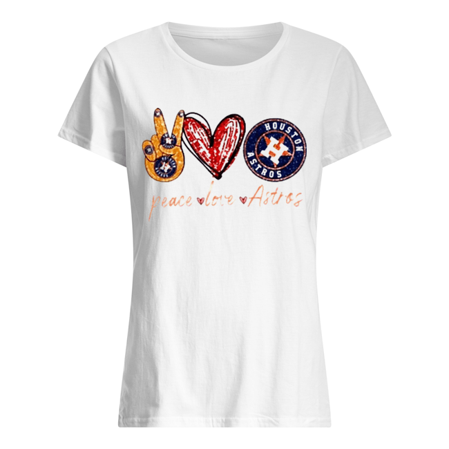 Good Peace Love Astros Houston Astros Classic Women's T-shirt