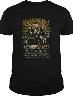 Harry potter 23rd anniversary 19972020 all character signatures shirt
