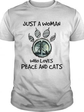 Hippie Just A Woman Who Loves Peace And Cats shirt