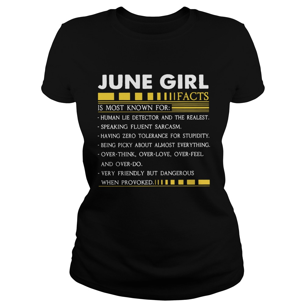 June Girl Facts Gemini Funny Harajuku Custom Female Classic Ladies