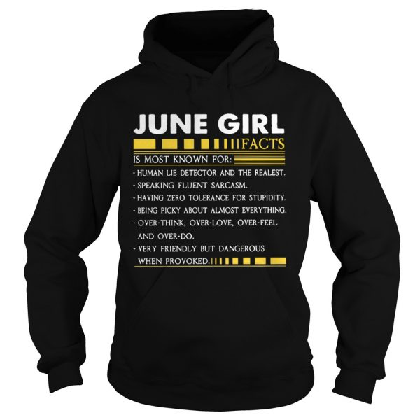 June Girl Facts Gemini Funny Harajuku Custom Female  Hoodie