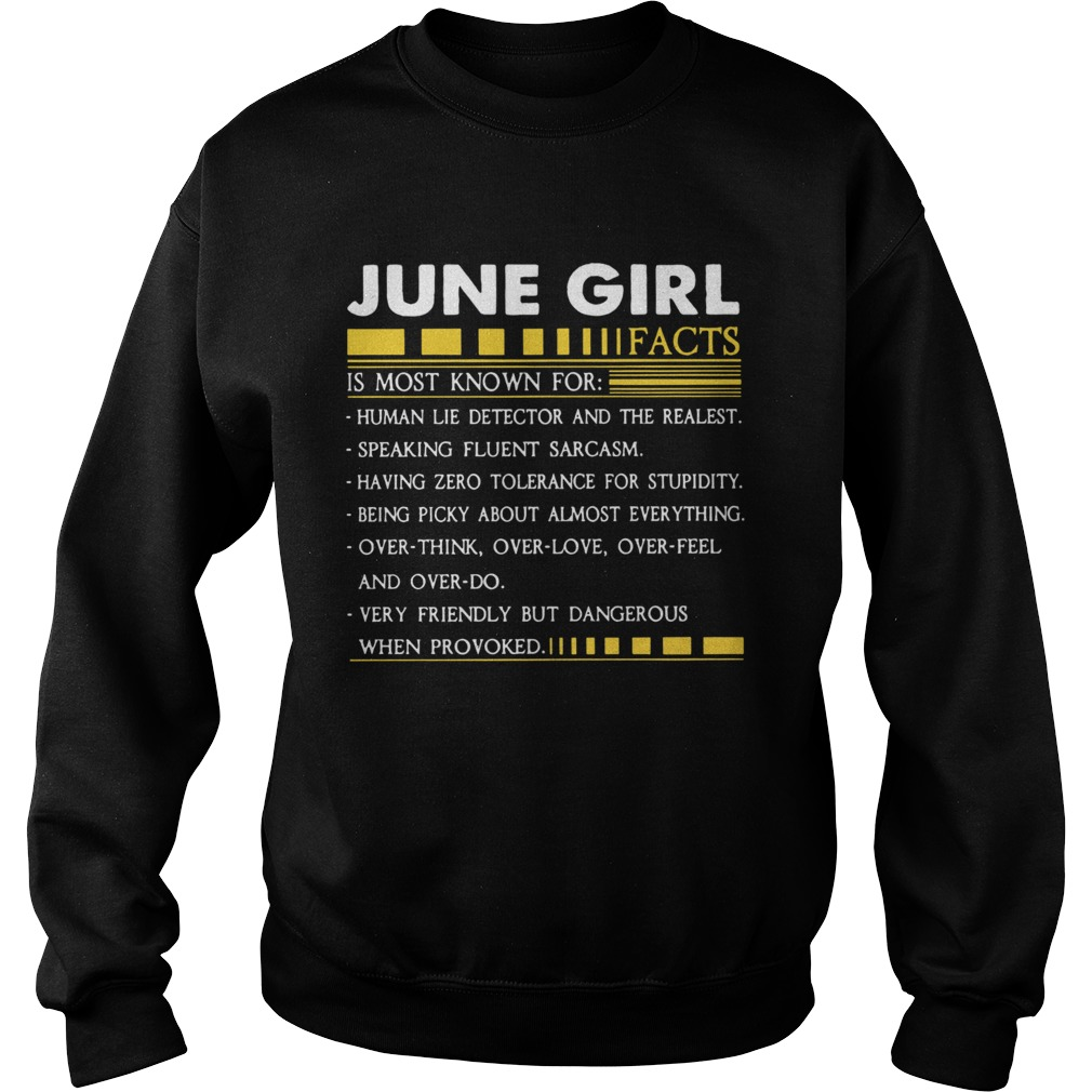 June Girl Facts Gemini Funny Harajuku Custom Female Sweatshirt