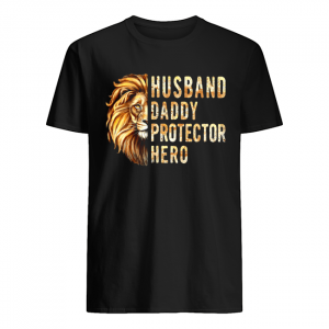 Lion Husband Daddy Protector Hero  Classic Men's T-shirt