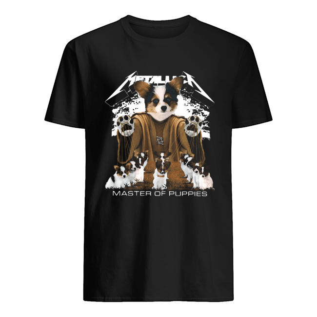 Metallic Papillon Master of puppies Classic Men's T-shirt