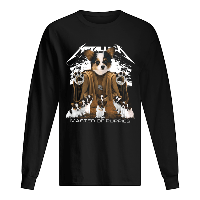 Metallic Papillon Master of puppies Long Sleeved T-shirt