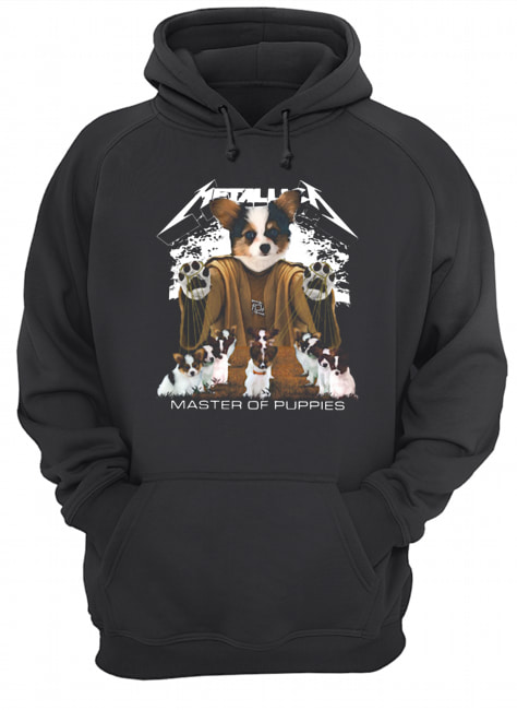 Metallic Papillon Master of puppies  Unisex Hoodie
