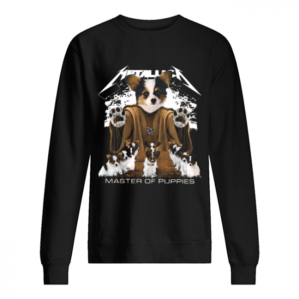 Metallic Papillon Master of puppies  Unisex Sweatshirt
