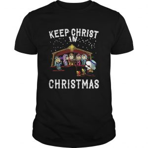 Peanuts Characters Keep Christ In Christmas Snoopy Charlie Brown  Unisex