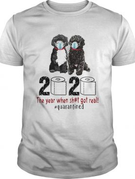 Portuguese 2020 the year when shit got real quarantined toilet paper covid19 shirt