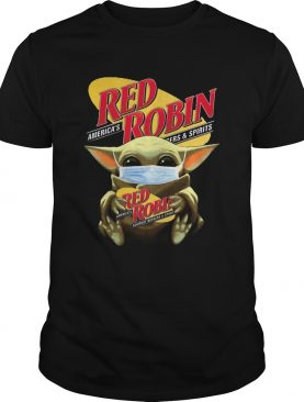Star Wars Baby Yoda Hug Red Robin Covid19 shirt
