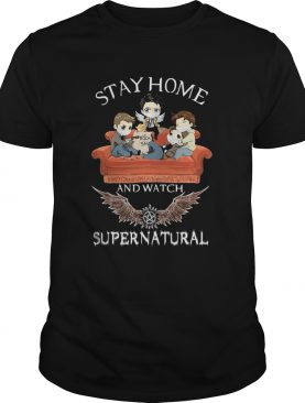 Stay home and watch supernatural mask in sofa covid19 shirt