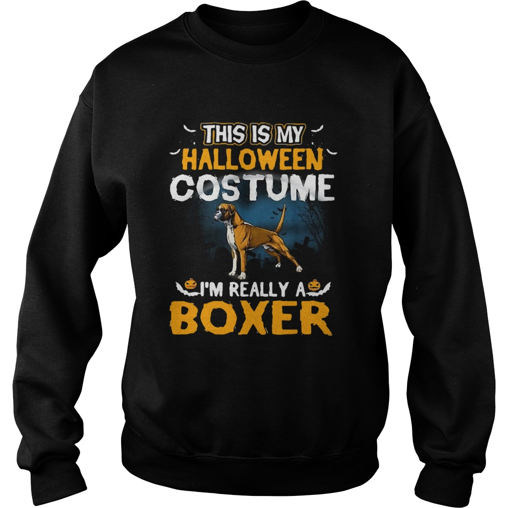 This Is My Halloween Costume Im Really A Boxer Sweatshirt