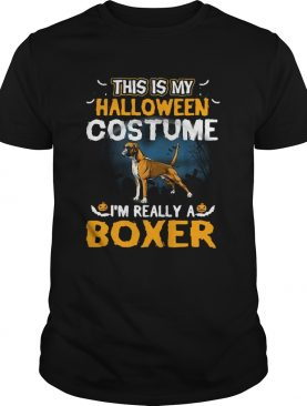 This Is My Halloween Costume Im Really A Boxer shirt