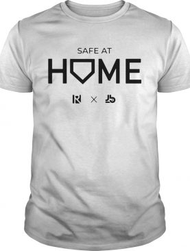 White Routine X Justbats Safe At Home shirt