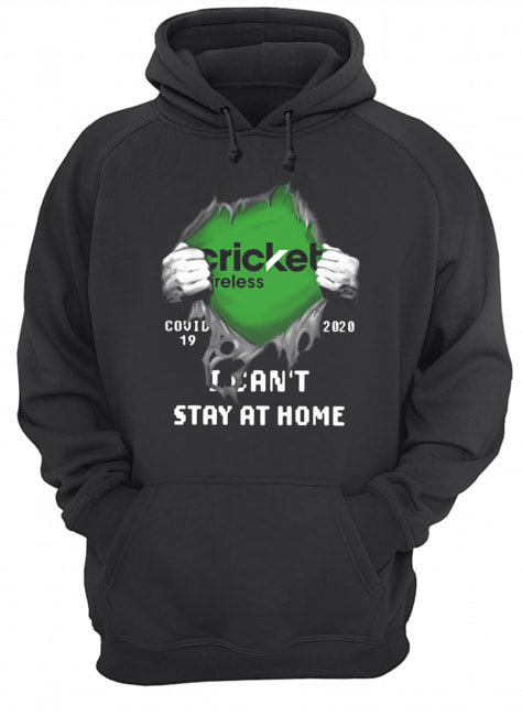 Cricket Wireless Inside Me Covid-19 2020 I Can't Stay At Home  Unisex Hoodie