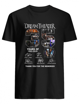 Dream Theater 35 Years Of 2985 2020 Thank You For The Memories Signatures shirt