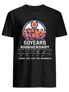 Edmonton Oilers 50 Years Anniversary Thank You For The Memories Signature shirt